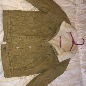 Mustard Sherpa corduroy  jacket
